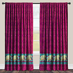 Laural Home Marrakesh Room-Darkening Rod Pocket Window Curtain Panel in Purple