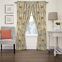 Waverly Sanctuary Rose Rod Pocket Window Curtain Panel and Valance