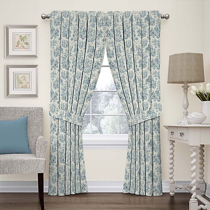Alternate image 1 for Waverly Charmed Life 84-Inch Rod Pocket Window Curtain Panel in Cornflower