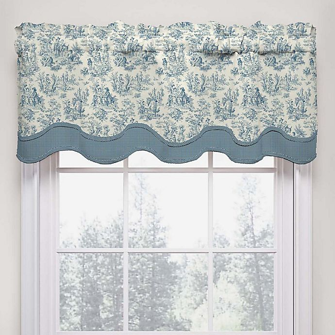 Alternate image 1 for Waverly Charmed Life Scalloped Cotton Valance in Cornflower