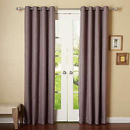 Decorinnovation Basketweave Room Darkening Grommet Top Window Curtain Panel Pair