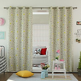 Decorinnovation Bunny Room Darkening Grommet Top Window Curtain Panel Pair