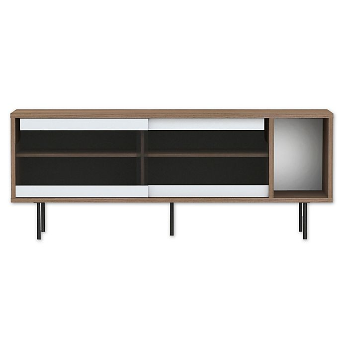 Alternate image 1 for Tema Dann 5-Compartment Sideboard in Walnut/Glass/Black