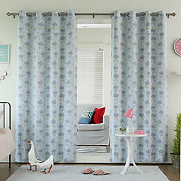 Decorinnovation CloudsRoom Darkening Grommet Top Window Curtain Panel Pair