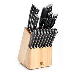 SALT™ Forged Triple Rivet 18-Piece Cutlery Set in Black