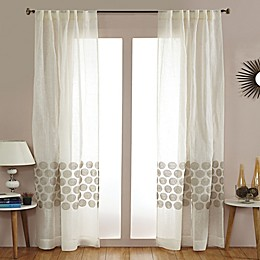 India's Heritage Jute Swirl Rod Pocket Sheer Window Curtain Panel