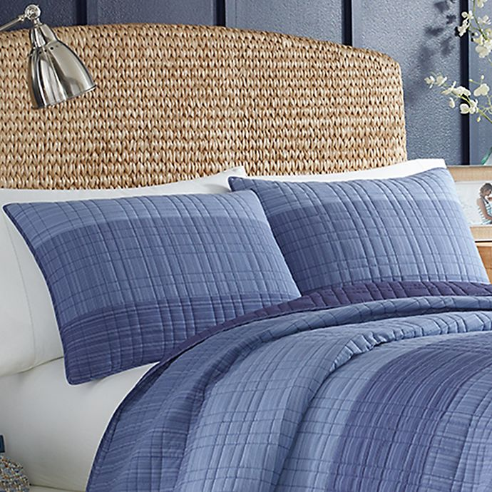 Alternate image 1 for Nautica® Riverview Standard Quilted Sham in Dark Blue