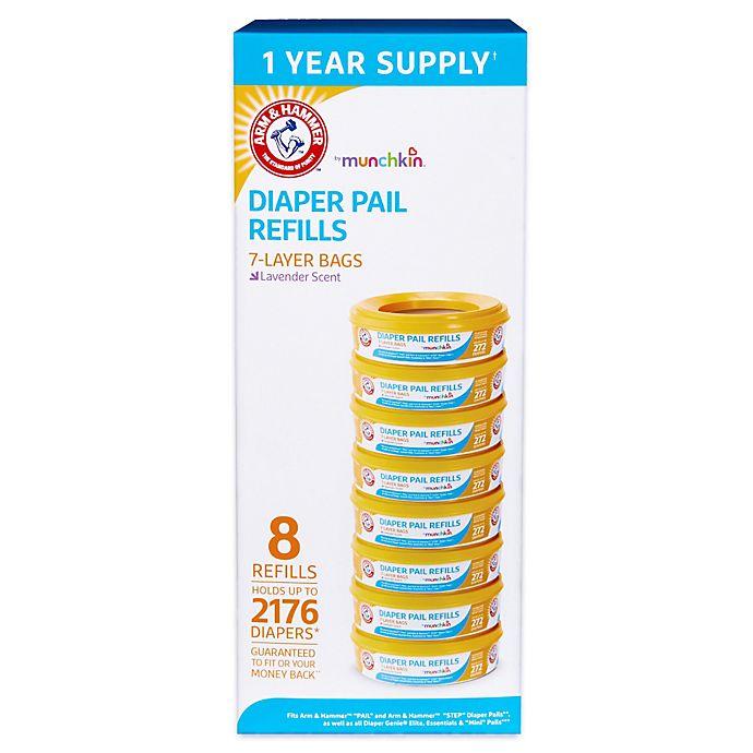 Alternate image 1 for Arm & Hammer™ 8-pack Diaper Pail Refill Rings
