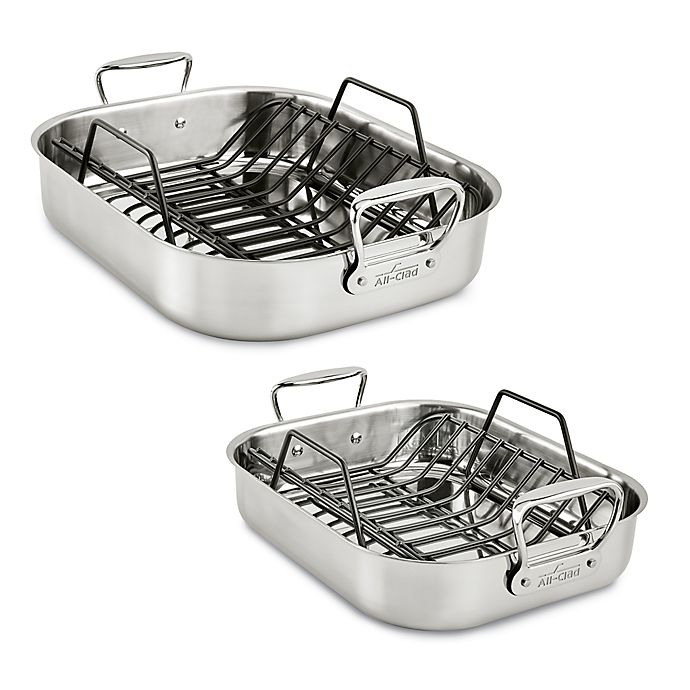 Alternate image 1 for All-Clad® Stainless Steel Roaster With Rack