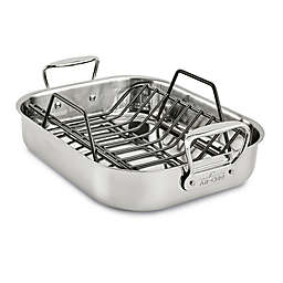 All-Clad® Small Nonstick Stainless Steel Roaster With Rack