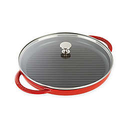 Staub 10-Inch Cast Iron Steam Grill with Glass Lid