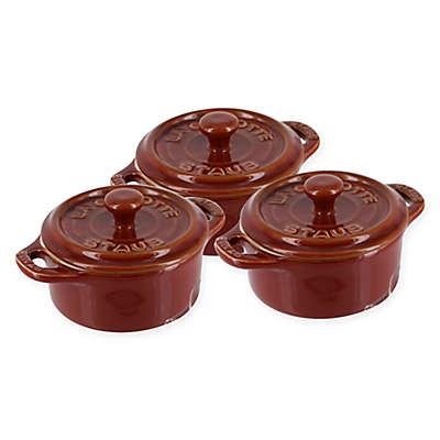 Staub Mini Round Cocottes (Set of 3)