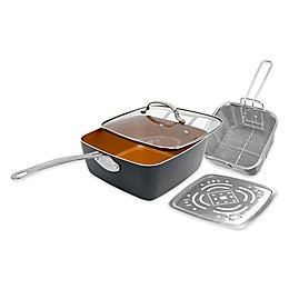 "Gotham Steel Nonstick 9.5"" 4-Piece Deep Square Pan Set"