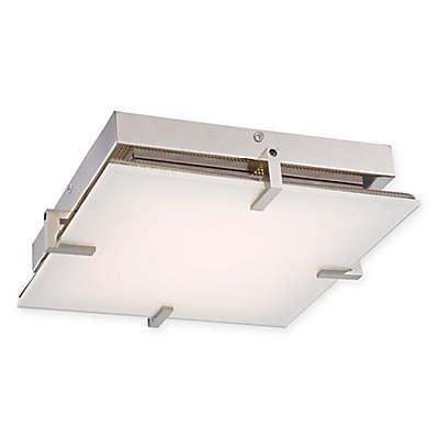 George Kovacs® Hooked LED Flush Mount with Polished Nickel Finish