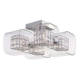 George Kovacs® Jewel Box 4-Light Semi-Flush Mount with Chrome Finish