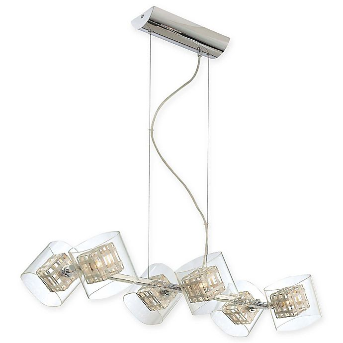 Alternate image 1 for George Kovacs® Jewel Box 6-Light Island Light with Chrome Finish
