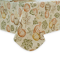 Sketched Harvest Vinyl Tablecloth