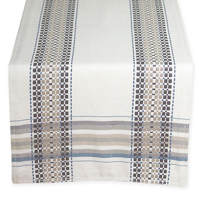 Alternate image 1 for Terra Woven French Picnic 90-Inch Table Runner in Blue