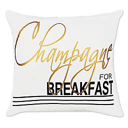 Alamode Home Penrhyn Woven Square Throw Pillow in Champagne
