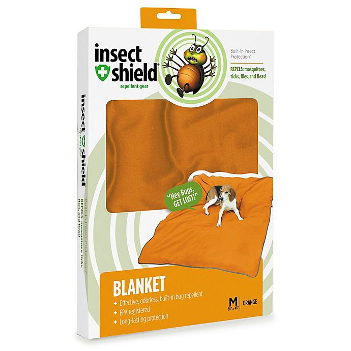 Alternate image 1 for Insect Shield® Medium Blanket in Carrot