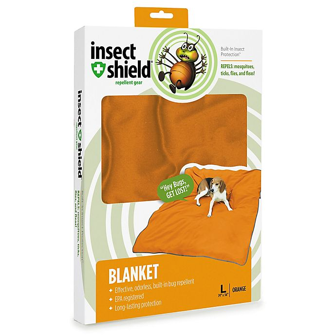 Alternate image 1 for Insect Shield® Large Blanket in Carrot