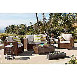 Abbyson Living® Hampton 4-Piece Outdoor Wicker Sofa Set