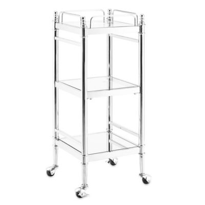 empire cart in chrome bed bath beyond - Bathroom Cart