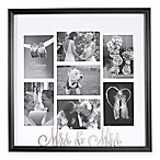 Occasions Clove  Mrs. and Mrs.  7-Photo Collage Frame