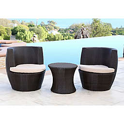 Abbyson Living® Carlsbad Wicker 3-Piece Bistro Set in Espresso
