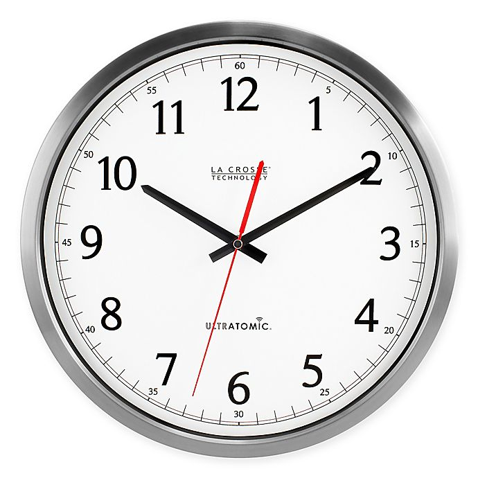 Alternate image 1 for UltrAtomic Analog Wall Clock in Silver