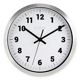 La Crosse® Technology Analog Circular Wall Clock in Silver