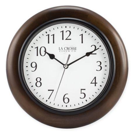La Crosse Technology 174 Round Wood Wall Clock Bed Bath