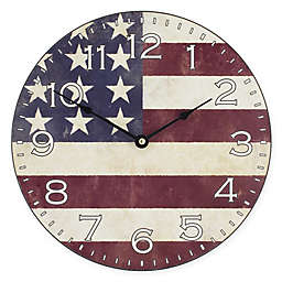 La Crosse Technology Flag 12-Inch MDF Wall Clock in Red/White/Blue