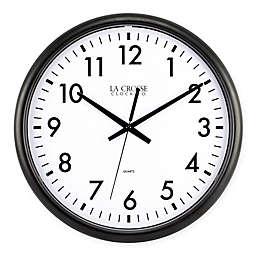 La Crosse Technology Thinline Quartz Wall Clock in Black