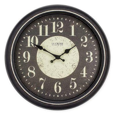La Crosse Technology 174 Modern Wall Clock In Brown White