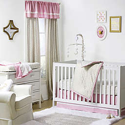 The Peanutshell™  Crib Bedding Collection in Gold/Pink