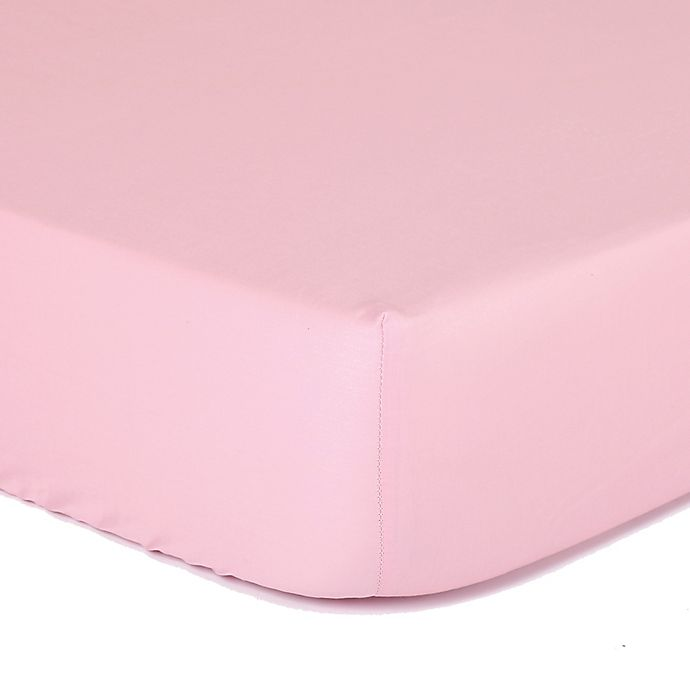 Alternate image 1 for The Peanutshell™  Solid Fitted Crib Sheet in Pink
