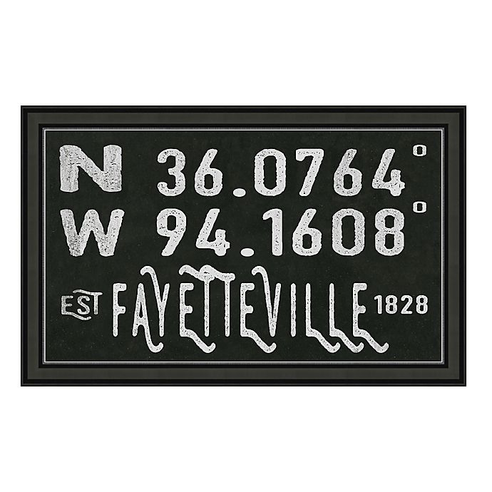 Alternate image 1 for Fayetteville, Arkansas Coordinates Framed Wall Art