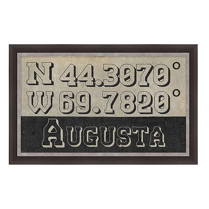 Alternate image 1 for Augusta Maine Coordinates Framed Wall Art