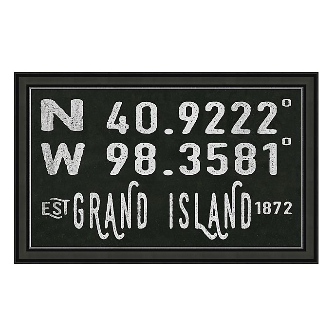 Alternate image 1 for Grand Island Nebraska Coordinates Framed Wall Art