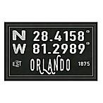 Orlando, Florida Coordinates Framed Wall Art