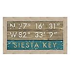 Siesta Key, Florida Coordinates Framed Wall Art