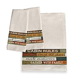 Laural Home® Cabin Rules Bath Collection