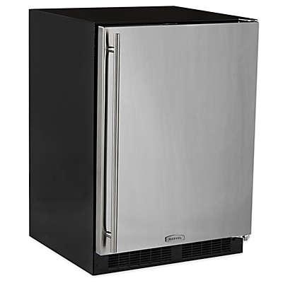 Marvel 24-Inch Stainless Steel Refrigerator with Drawer & Door Storage