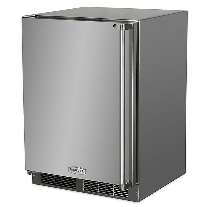 Alternate image 1 for Marvel 24-Inch Outdoor Stainless Steel Refrigerator with Left Hinge