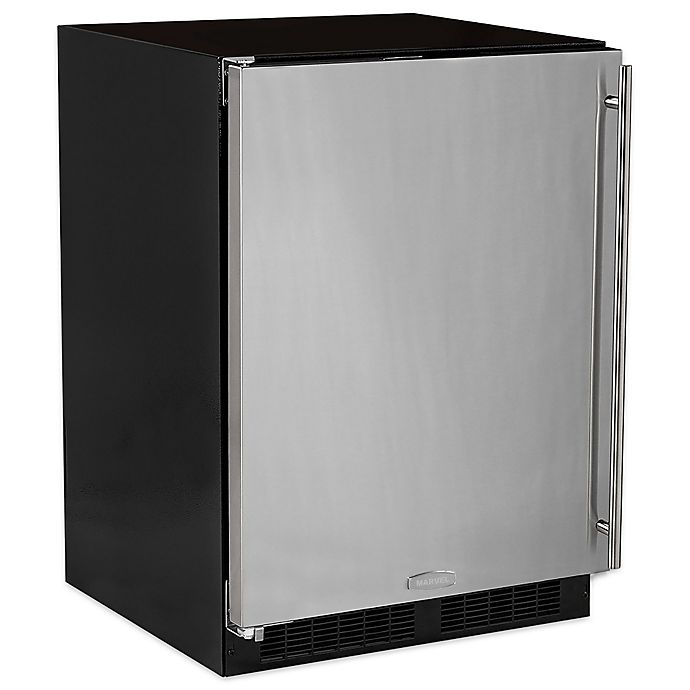 Alternate image 1 for Marvel 24-Inch Stainless Steel Freezer with Left Hinge
