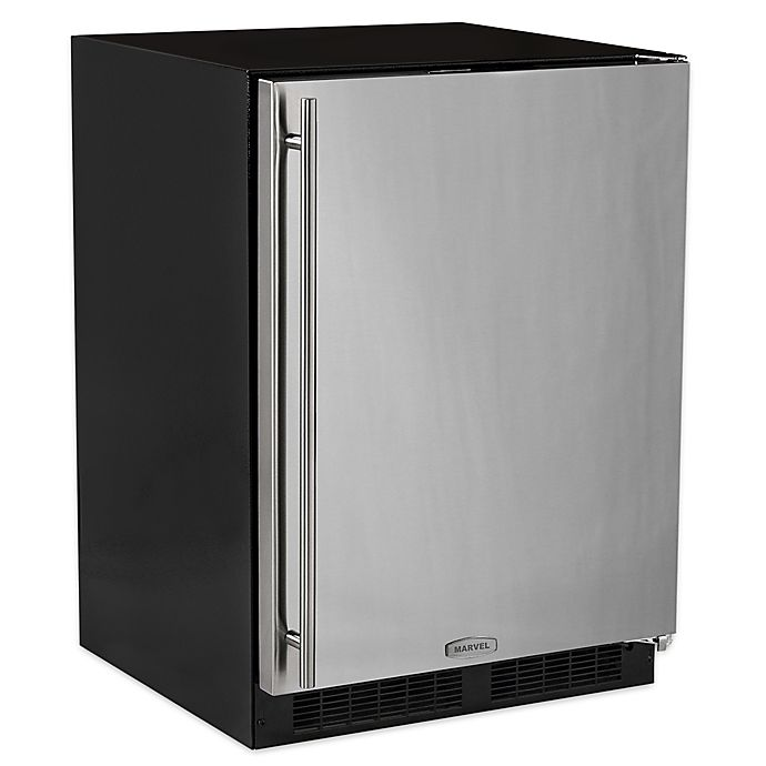 Alternate image 1 for Marvel 24-Inch Stainless Steel Freezer with Right Hinge