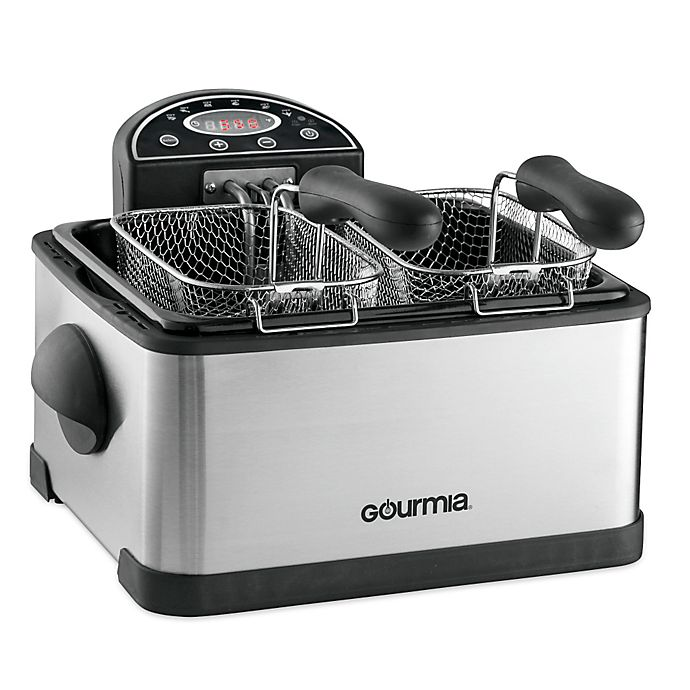 Alternate image 1 for Gourmia® Tri-Basket 4.2 qt. Deep Fryer with Digital Display