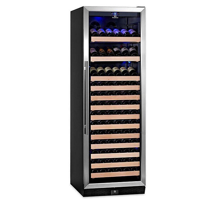 Alternate image 1 for KingsBottle® Stainless Steel 170-Bottle Single-Zone Wine Refrigerator