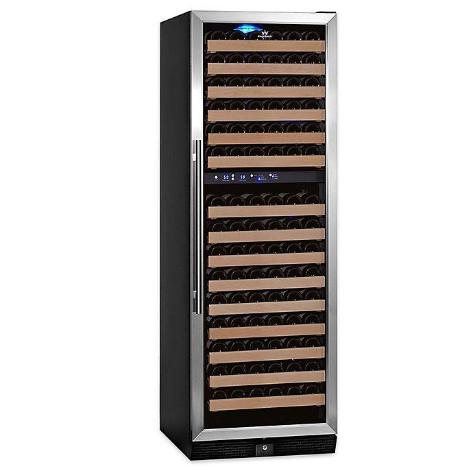 Alternate image 1 for KingsBottle® Stainless Steel 164-Bottle Dual-Zone Wine Refrigerator